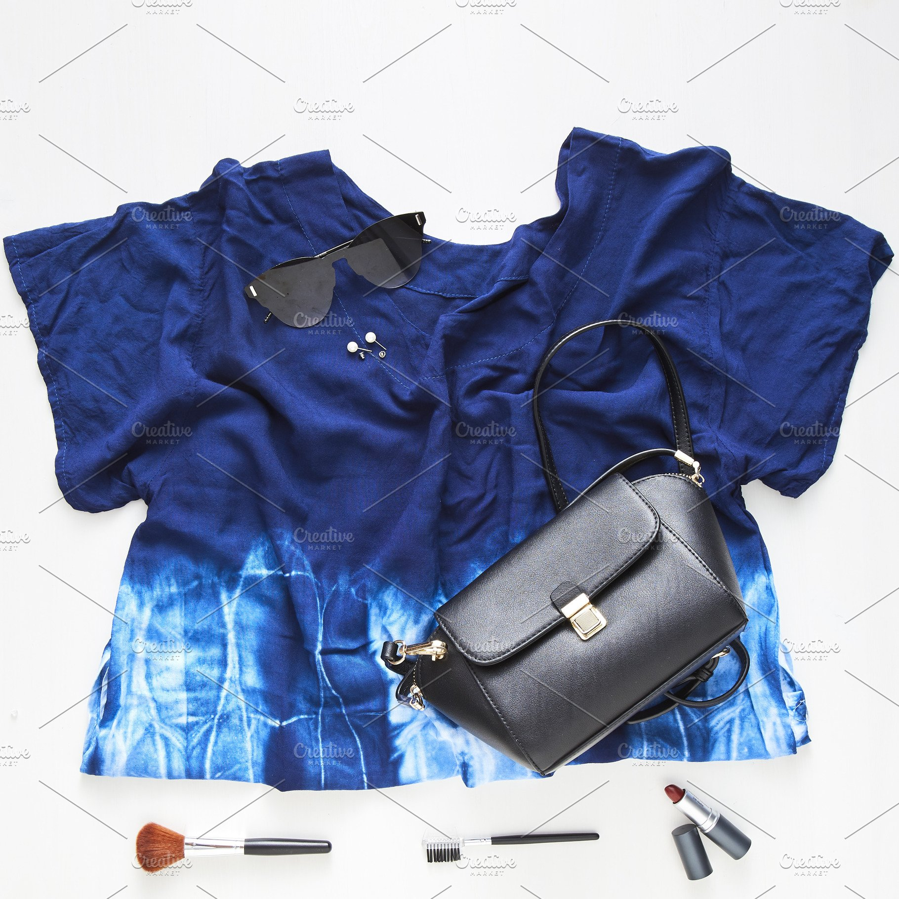 26441d9597d3 flat lay feminine clothes and accessories collage ~ Photos ...