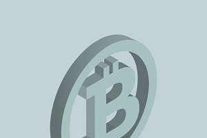 Vector icon of bitcoin