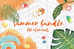 Summer Bundle - 136 elements