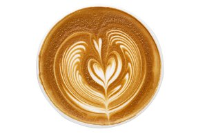 latte art Isolated on white background