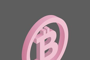 Vector icon of bitcoin icon