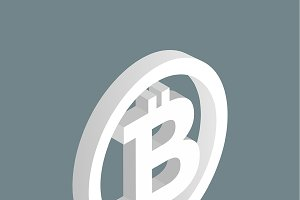 Vector of bitcoin icon