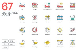 67 Car Service Icons