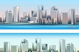 City skylines backgrounds