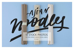 Flat lay noodles – Styled Stock