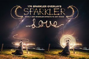 170 Sparkler Overlays for Photoshop