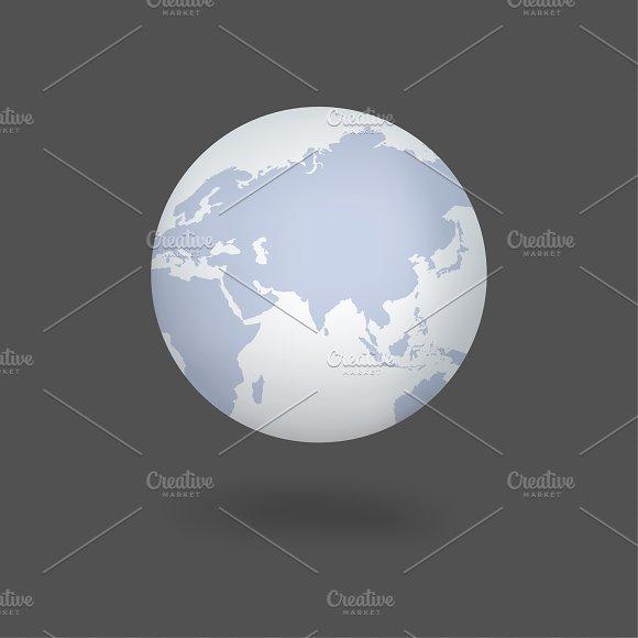 Vector Icon Of Globe
