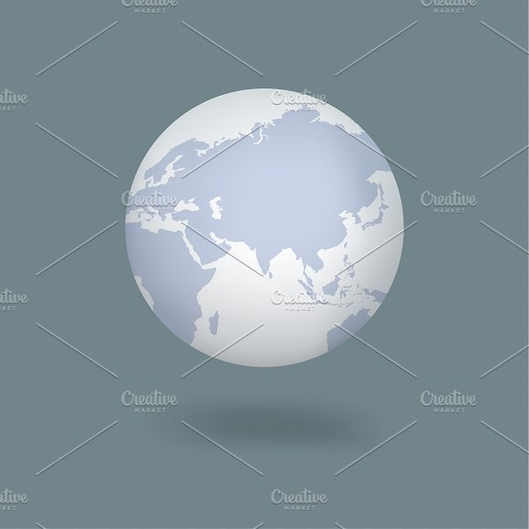 Vector Icon Of Globe