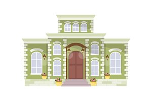 Big mansion vector