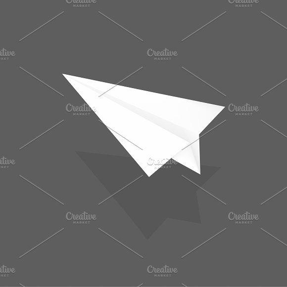 Vector Of Paper Plane Icon
