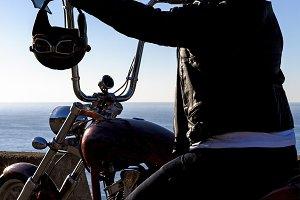 chopper motorbike rider