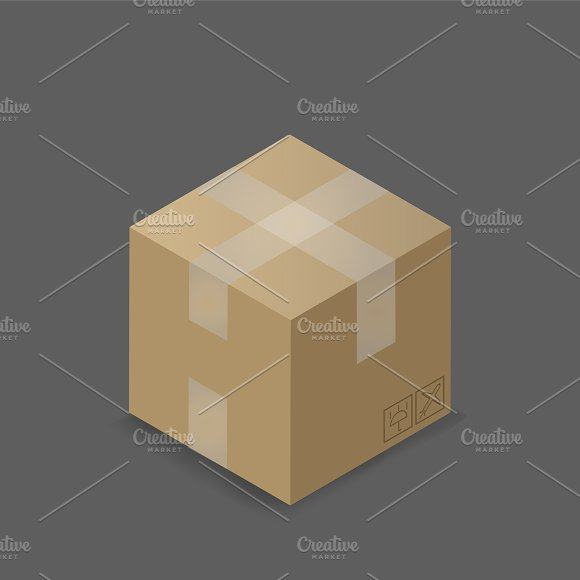 Vector Of Container Box Icon