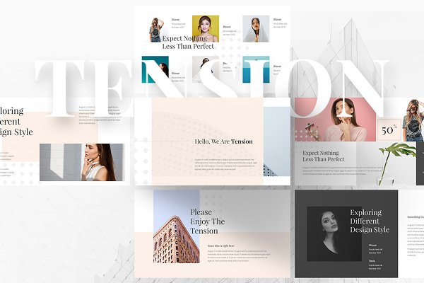 Presentation Templates: MasterSlides - Tension Creative Keynote Template