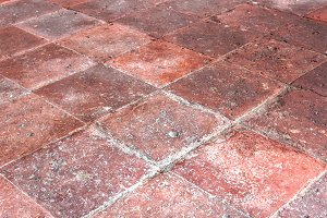 Vintage terracotta floor
