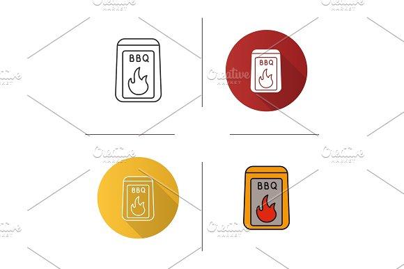 Barbeque Coal Icon