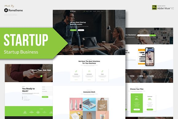 Startup Startup Muse Template