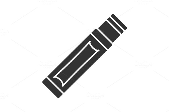 Chewing Gum Stick Glyph Icon