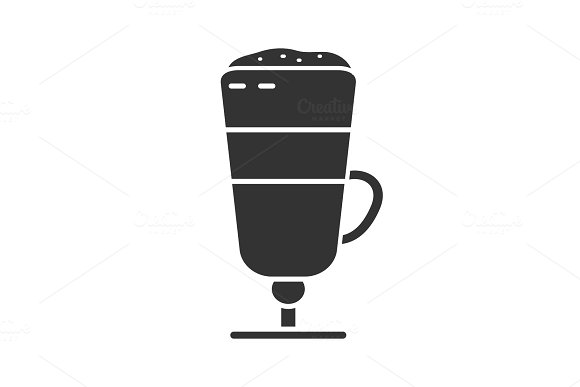 Latte Macchiato Glyph Icon