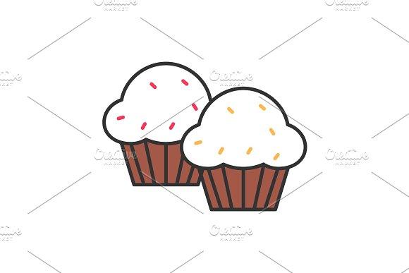 Cupcakes Color Icon