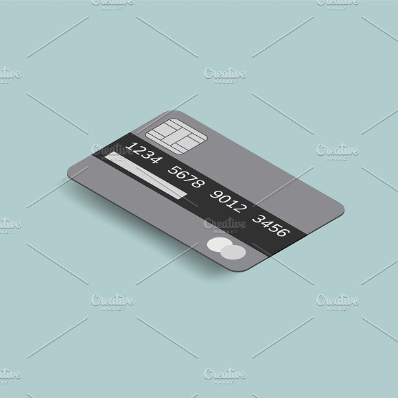 Vector Image Of Credit Card Icon
