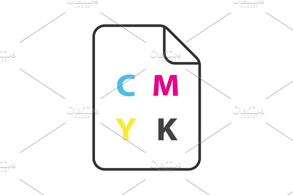 CMYK Color Circle Model Icon