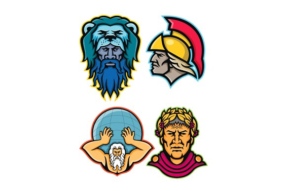 Roman And Greek Heroes Mascot Collec