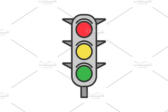 Traffic Lights Color Icon