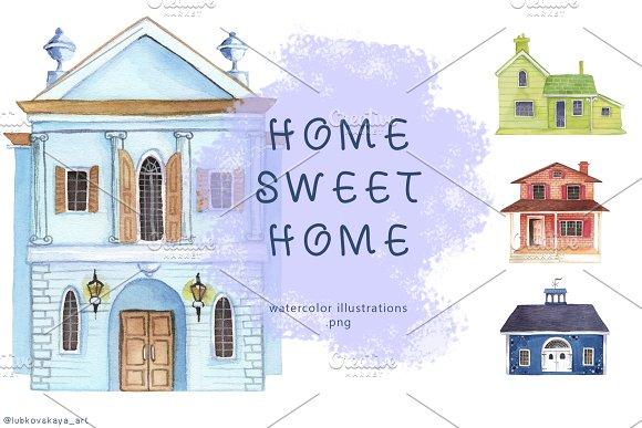 Watercolor Clipart Houses Vol 3
