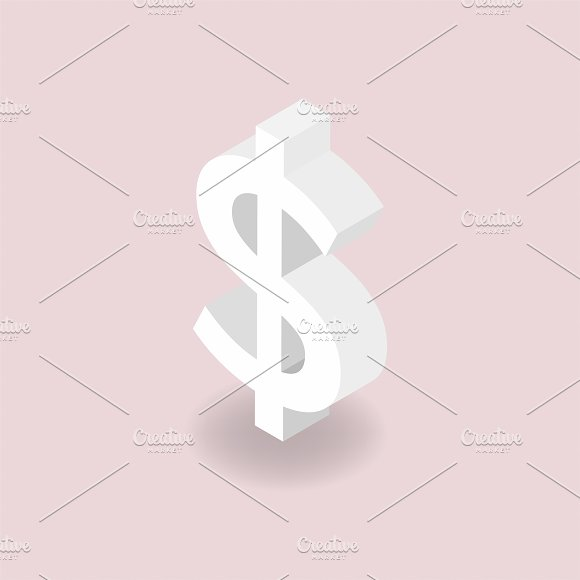 Vector Icon Of Dollar Sign Icon