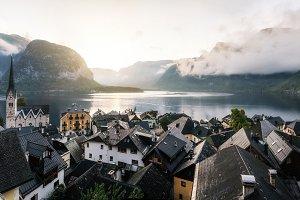 Hallstatt in the morning, Austria