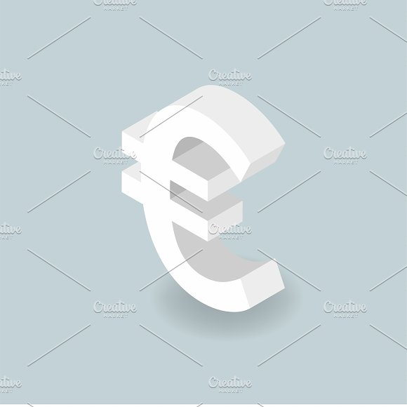 Vector Icon Of Money Euro Sign Icon