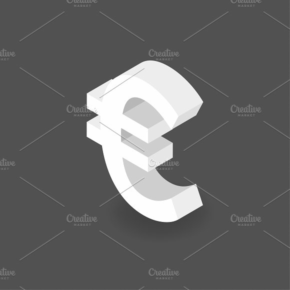 Vector Icon Of Money Euro Sign Icon