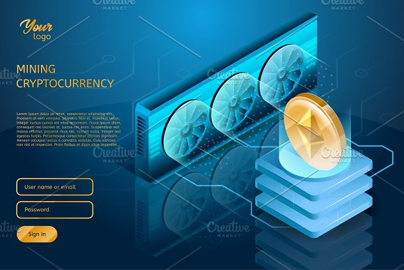 Process Of Mining The Cryptocurrency Ethereum Server Farm Blockchain Technology