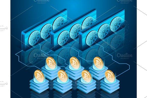 Bitcoin Mining Process Server Farm Blockchain Technology