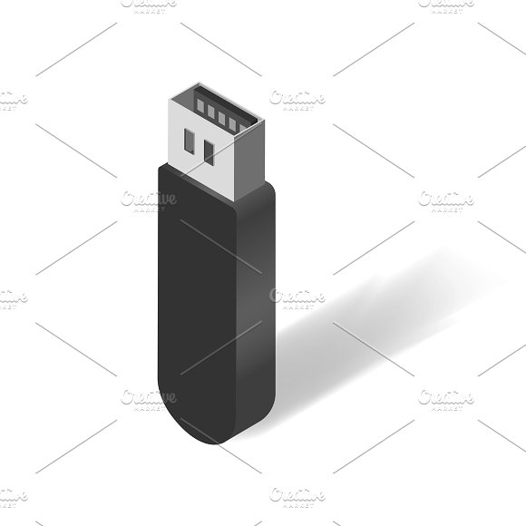 Vector Of USB Flash Drive