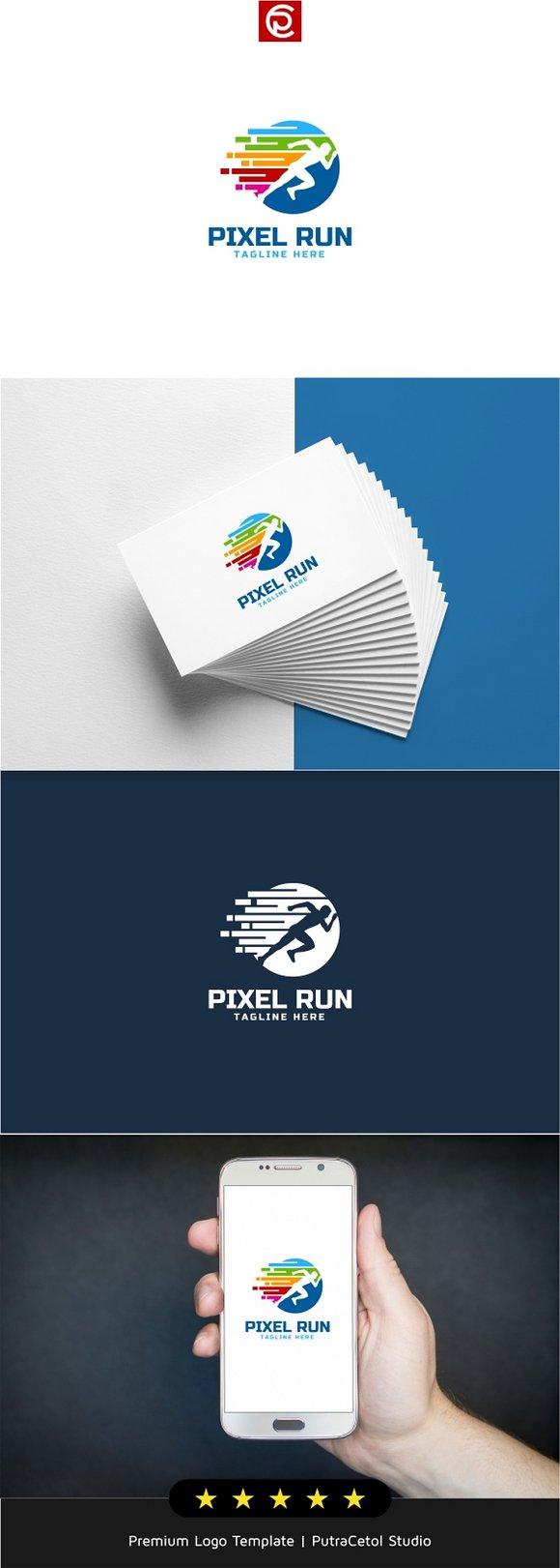 Color Pixel Run Logo