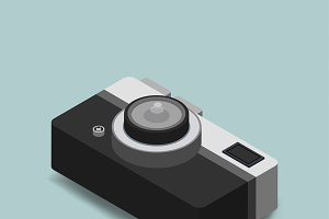 Vector of vintage camera icon