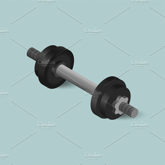 Vector Of Dumbbell Icon