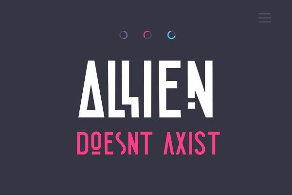 Sans Serif Fonts - Allien