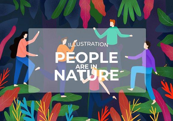 People And Natura Illustration