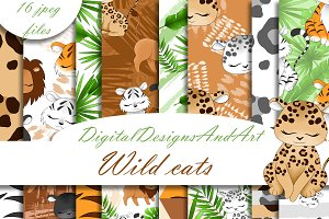 Wild cats pattern