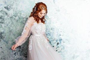 Beautiful and romantic bride