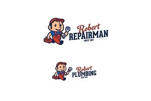 Repairman & Plumbing Logo