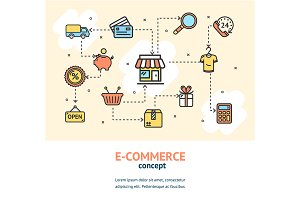 E-commerce Concept Banner Card