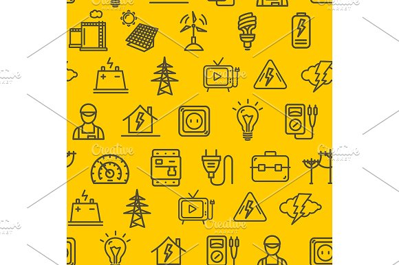 Electricity Pattern Background