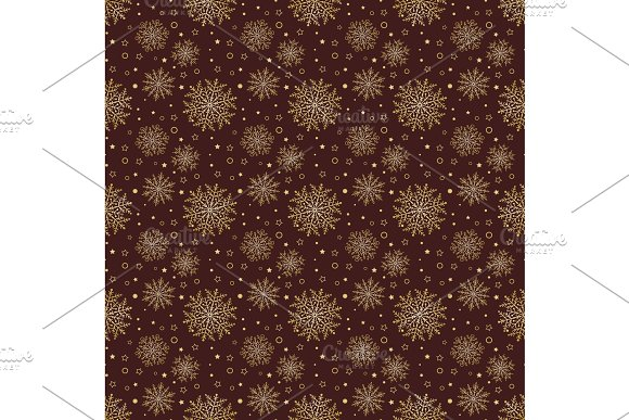 Seamless Vector Background With Snowflakes