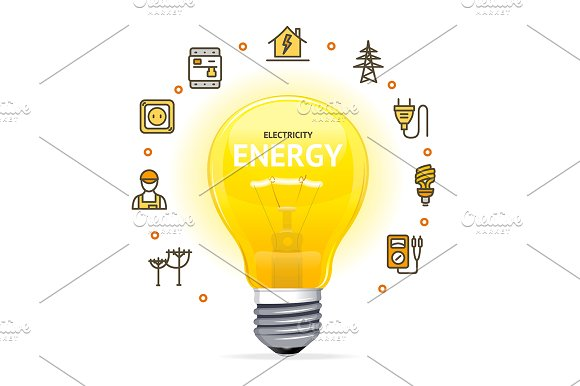 Electricity Concept With Light Bulb