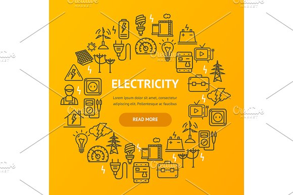 Electricity Round Design Template
