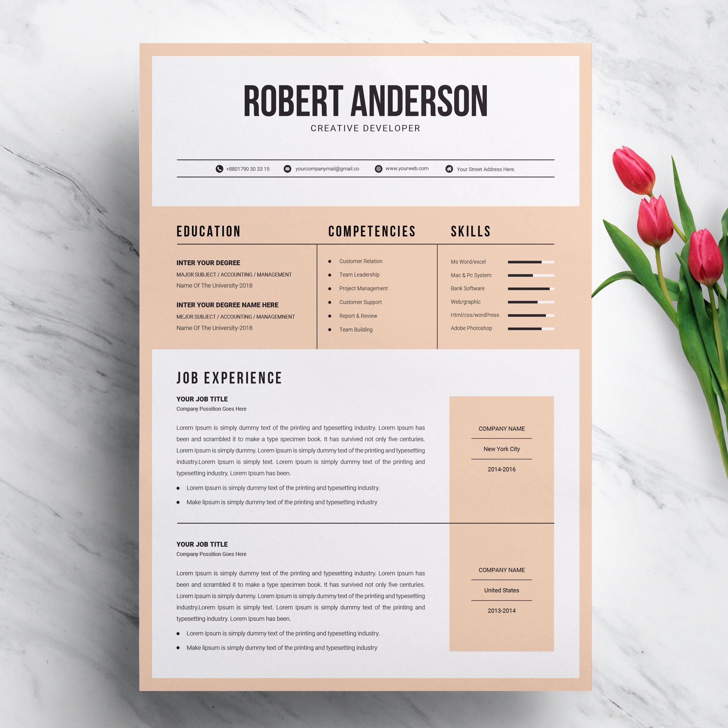 Modern & Creative Resume Template ~ Resume Templates ...