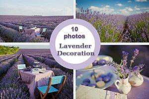 10 Lavender decor photo set
